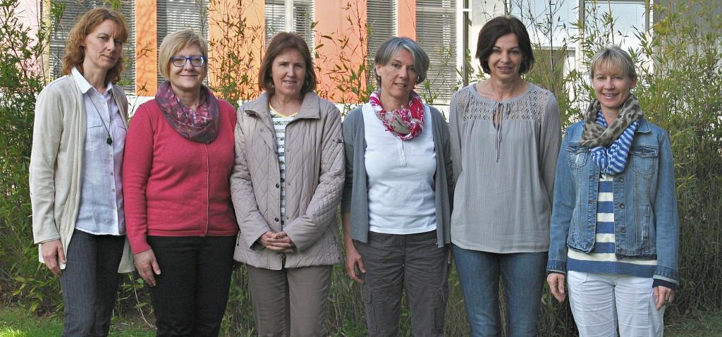 alphabetisch: Fr. Karin Gasche, Fr. Regina Heck, Fr. Astrid Koch, Fr. Sabine Lutz, Fr. Elke Schreiner, Fr.HelgaTrautner